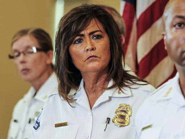 Minneapolis police chief Janee Harteau addresses a news conference. Picture: Maria Alejandra Cardona/Minnesota Public Radio/AP