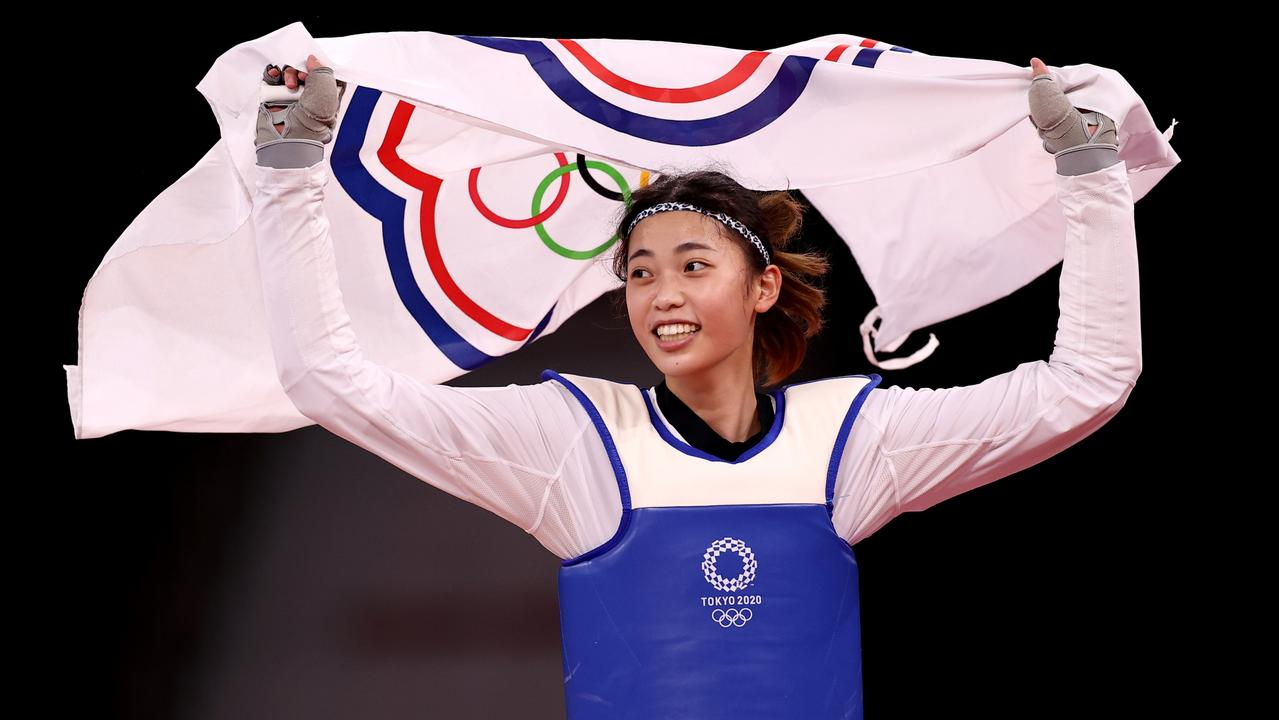 Lo Chia-ling claimed bronze in the Taekwondo representing Chinese Taipei - a nation you won't find on any map. (Photo by Maja Hitij/Getty Images)