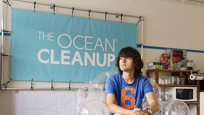 Boyan Slat who established the Ocean Cleanup