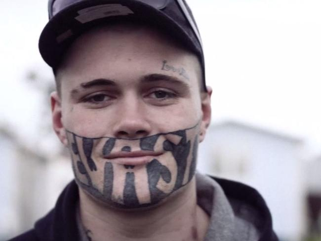 Mark Cropp's face tattoo is holding him back from getting a job. Picture: NZ Herald