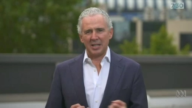 Telstra CEO Andy Penn warns customers might have to ration their internet (ABC 7.30)