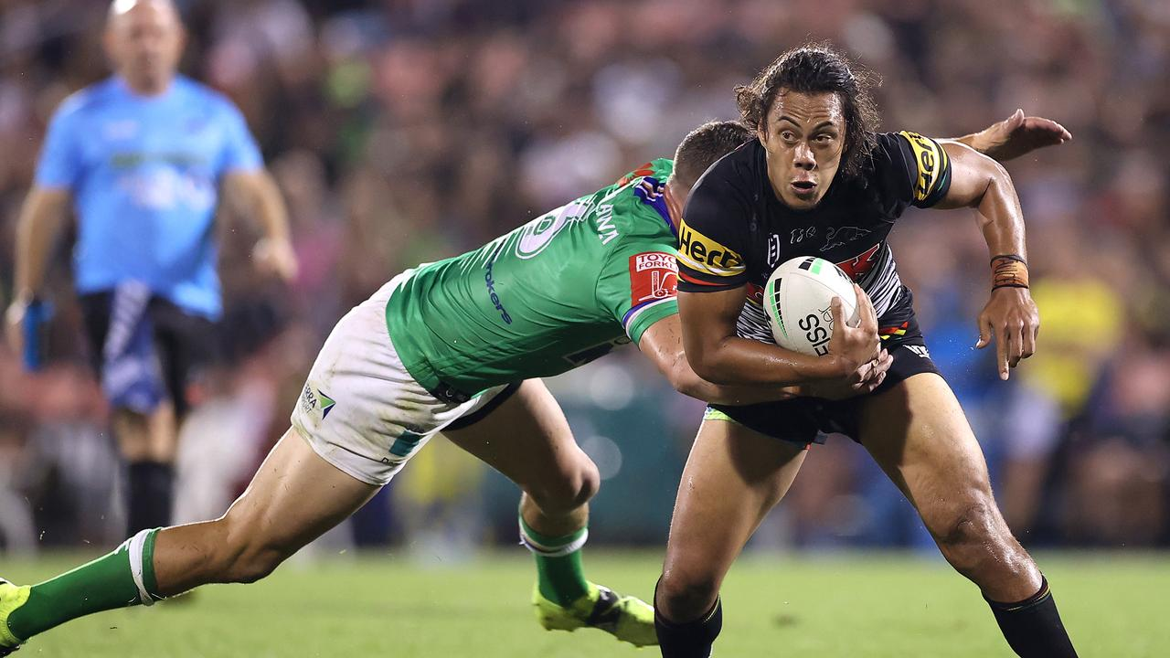 Jarome Luai has come under fire for 'running in as third man for a while now.'