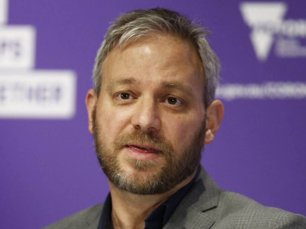 Victorian chief health officer Brett Sutton expects Victorian cases to dip below 150 next week. Picture: Daniel Pockett/NCA NewsWire