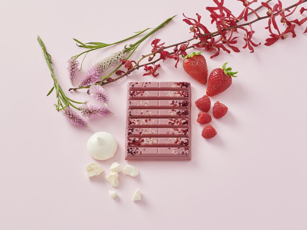 The KitKat Chocolatory's ruby chocolate on offer. Picture: Supplied