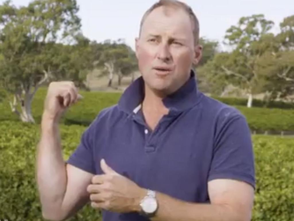 A total of 90 per cent of Simon Tolley's vineyard was affected by fire.