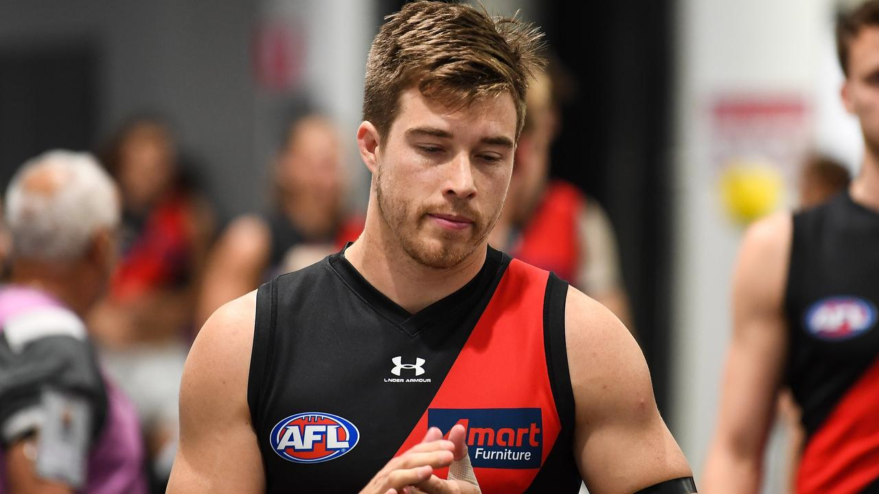 Zach Merrett of the Bombers. (Photo by Daniel Carson/AFL Photos via Getty Images)