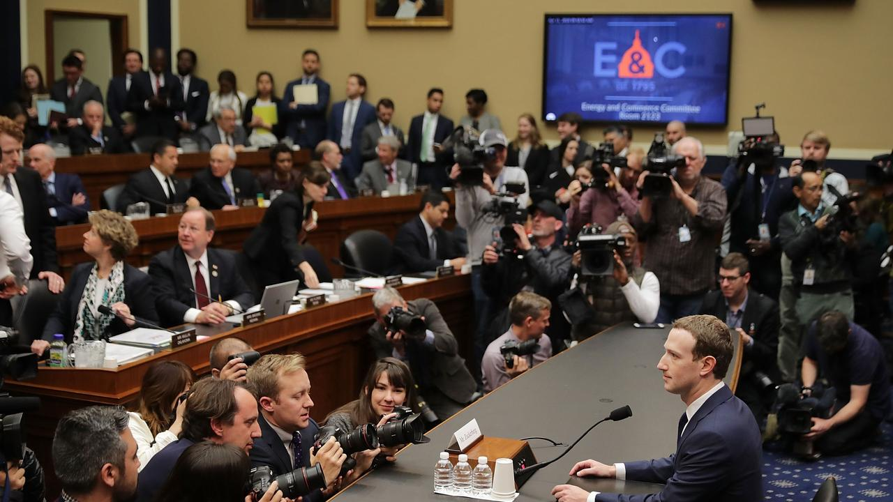 Facebook's questioning over Cambridge Analytica will likely attract less attention and a smaller penalty in Australia. Picture: Chip Somodevilla / Getty Images / AFP
