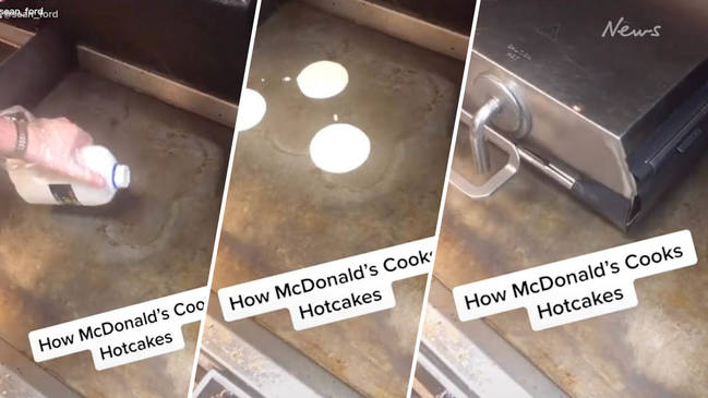 Tik Tok video shows how Macca's hot cakes are made