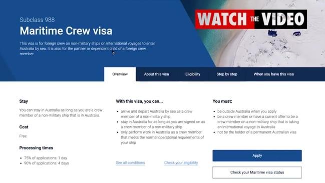 "Organised crime gangs ""selling"" entry into Australia using Maritime crew visas"
