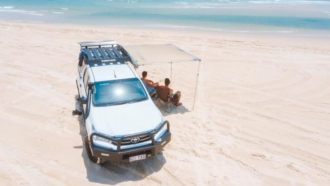 9/21Do a self-guided 4WD tour Fraser Island is strictly 4WD only, so odds are you are going to have to get behind the wheel. Hire a 4WD, pack your camping equipment, scribble up a list of your Fraser Island must-sees and get cracking! Limits are 80km/h on the beach and either 35km/h or 20km/h on the inland tracks. We've got more details on what you need to do to prepare for 4WD-ing on Fraser Island, here. Picture: Tourism and Events QueenslandSee also: Get behind the wheel on a 4WD Fraser Island adventure
