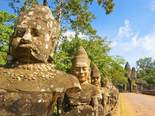 CAMBODIA 10-DAY PACKAGE, $999 Tick Cambodia off your travel bucket list with a package that includes 10 days and return flights from Perth from $999 a person. Travel from Bangkok to Ho Chi Minh City and experience sites such as the Khmer ruins of Angkor Wat, Koh Rong and Siem Reap where you can visit Tonle Sap floating village and Pub Street for a wander through the market stalls. The price departing Brisbane, Sydney, Melbourne and Adelaide is from $1369 a person. statravel.com.au