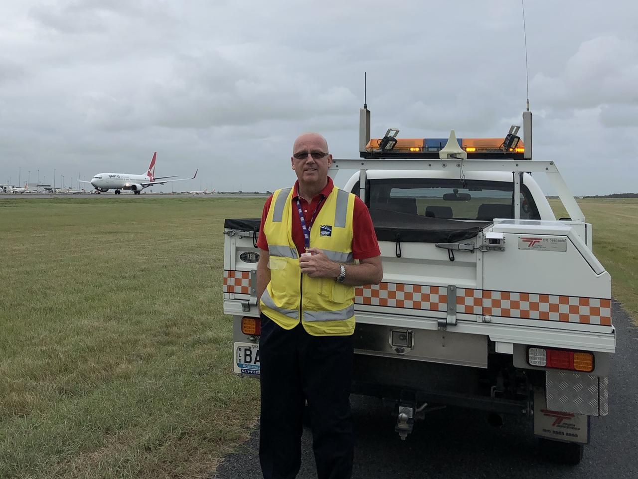 Brisbane Airport airside operations manager Peter Dunlop.