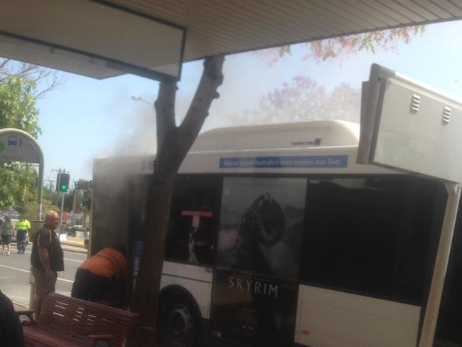 The horrifying scene in Moorooka on Friday morning when Manmeet Sharma was allegedly attacked with a incendiary device.