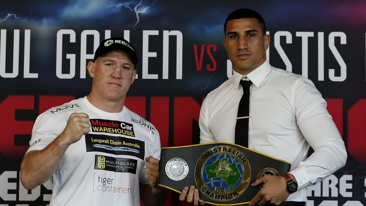 Justis Huni's camp says the fight against Paul Gallen won't go ahead unless an agreement can be reached over their gloves. Picture: NCA NewsWire / Nikki Short