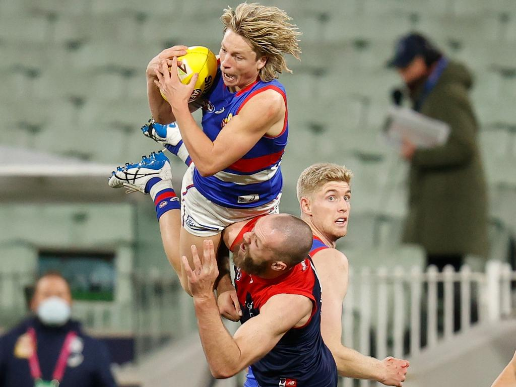 Who will make way for young gun Cody Weightman? Picture: AFL Photos