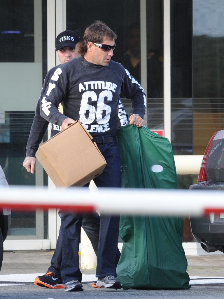Troy Mercanti leaving Casuarina Prison after serving 2.5 years.