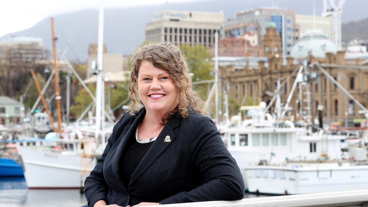 Hobart City Council alderman Anna Reynolds on the Hobart waterfront. Picture: SAM ROSEWARNE