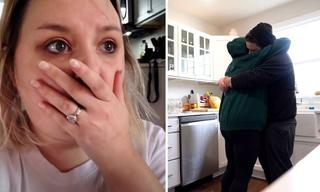 Vlogger's emotional moment after infertility