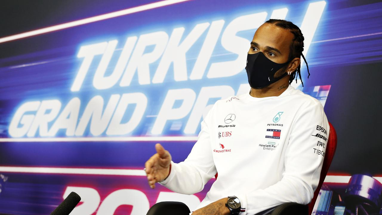 Lewis Hamilton was terrified by the conditions. (Photo by Antonin Vincent – Pool/Getty Images)