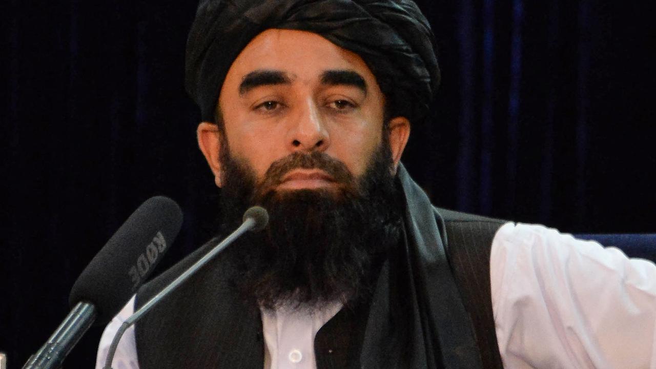 Taliban spokesman Zabihullah Mujahid. Picture: Hoshang Hashimi/AFP