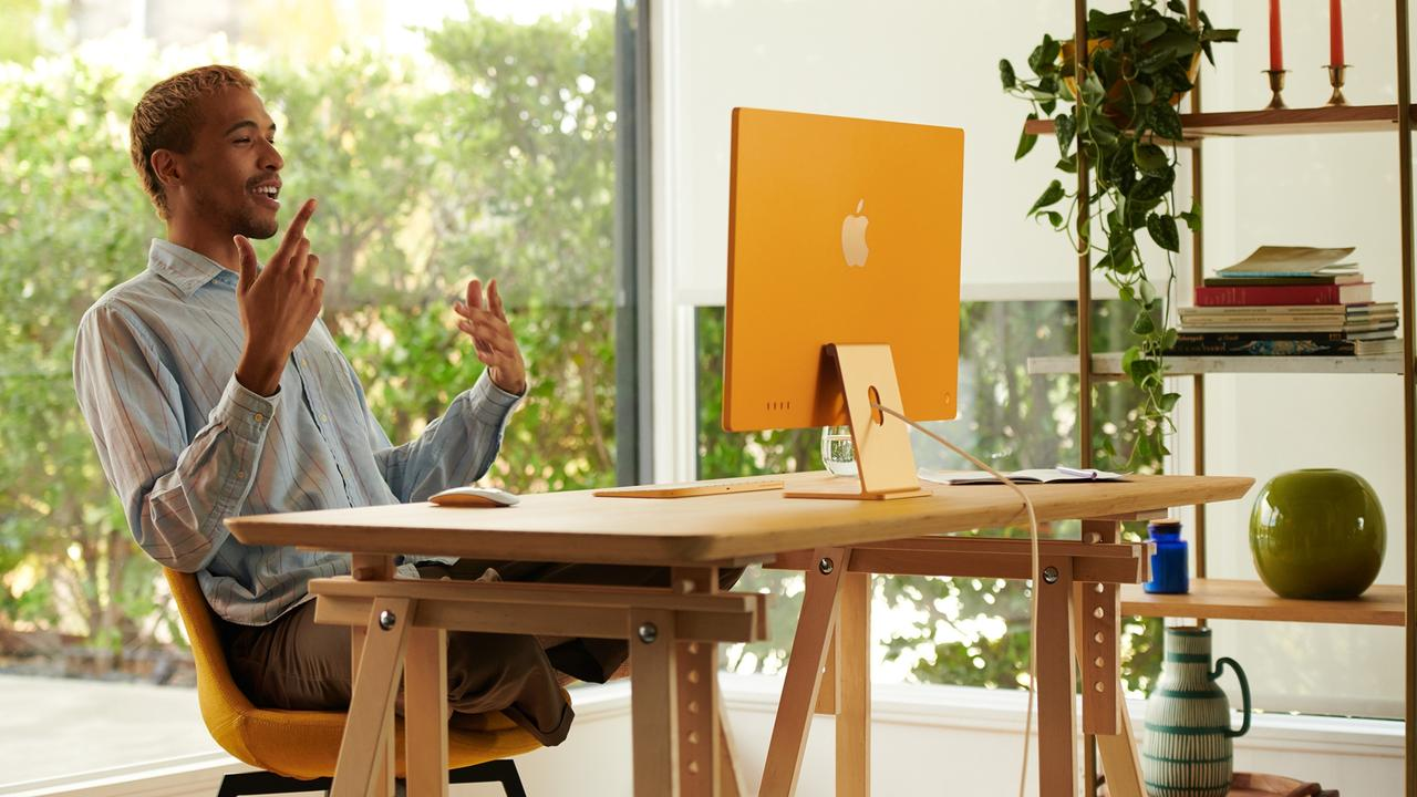 The new iMac comes in vibrant colours. Picture: Supplied