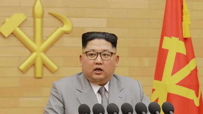 Kim Jong-un has reportedly met with South Korean officials for the first time in the seven years of his leadership. Picture: AFP/KCNA via KNS