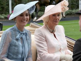 The Duchess of Cambridge, Kate Middleton, and Duchess of Cornwall, Camilla roll into Royal Ascot. Image: MATRIXPICTURES.CO.UK.