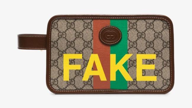 Gucci 'Not Fake' Wash Bag.