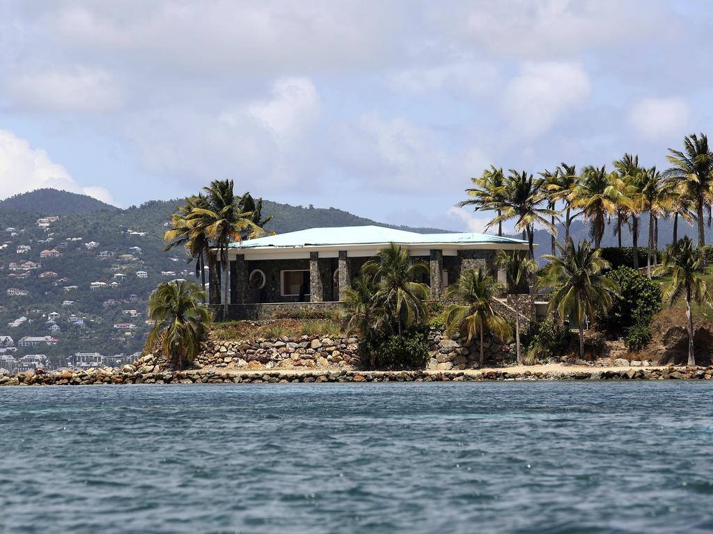 A view of Jeffrey Epstein's stone mansion on Little St. James Island. Picture: Gabriel Lopez Albarran