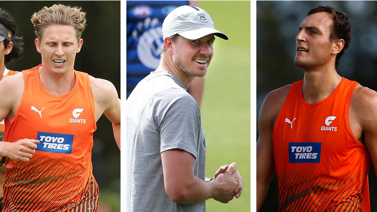 Casualty Ward: Lachie Whitfield, Mitch Duncan and Braydon Preuss.