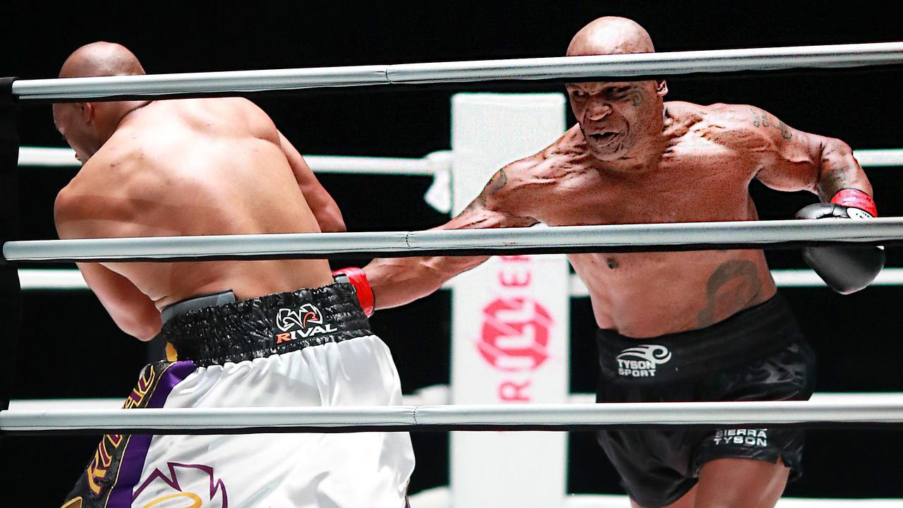 Mike Tyson looked great in his boxing return.
