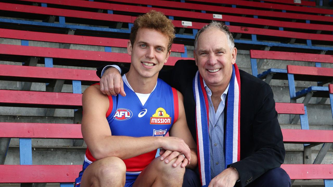 Mitch Wallis and father Steve Wallis, who has recently bought and sold some seriously luxurious homes. Picture Andrew Tauber