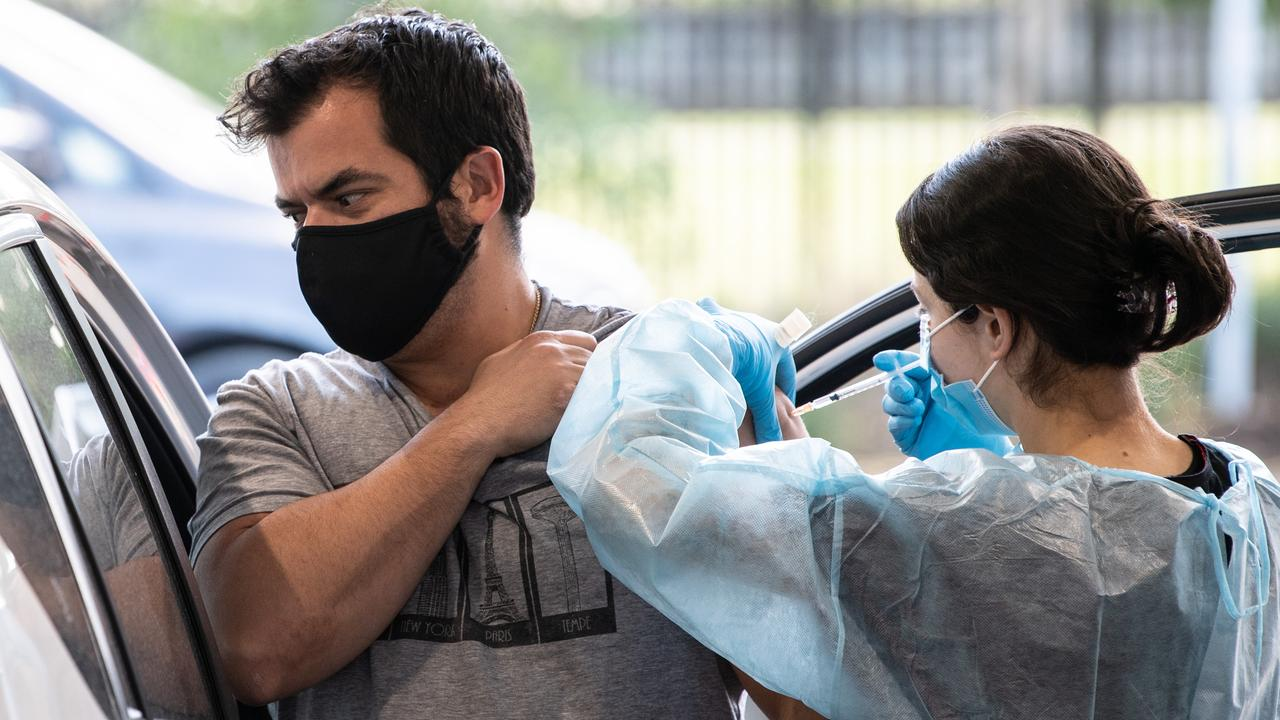 The rapid rollout of vaccines in Australia will allow a road map out of lockdown to be implemented. Picture: James Gourley/NCA NewsWire