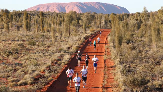 9/10THE RUNNING MAN, NT Otherworldly, and awe-inspiring – the NT landmark of Uluru needs to be seen to be believed. But rather than joining the hundreds of thousands of visitors in generic sightseeing, how about strapping on your runners and pounding the red earth around the famed rock instead? The annual Australian Outback Marathon, on July 31, is a surefire contender for the country's most scenic run. The event offers full and half marathons, plus 11km and 6km routes.