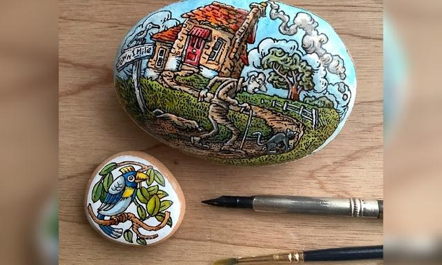 Rock painting hide and seek: The game parents are playing with kids in lockdown