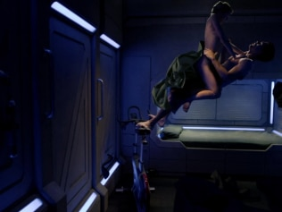 What does sex look like in space? Probably kinda awkward. Image: The Expanse