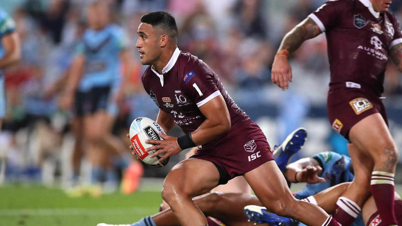 Phil Gould has questioned Valentine Holmes' position for Origin III. Picture: Mark Kolbe