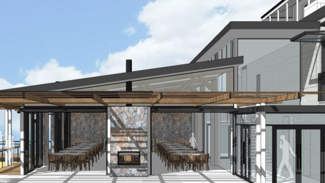 Concept images of the Bridgewater Inn expansion.