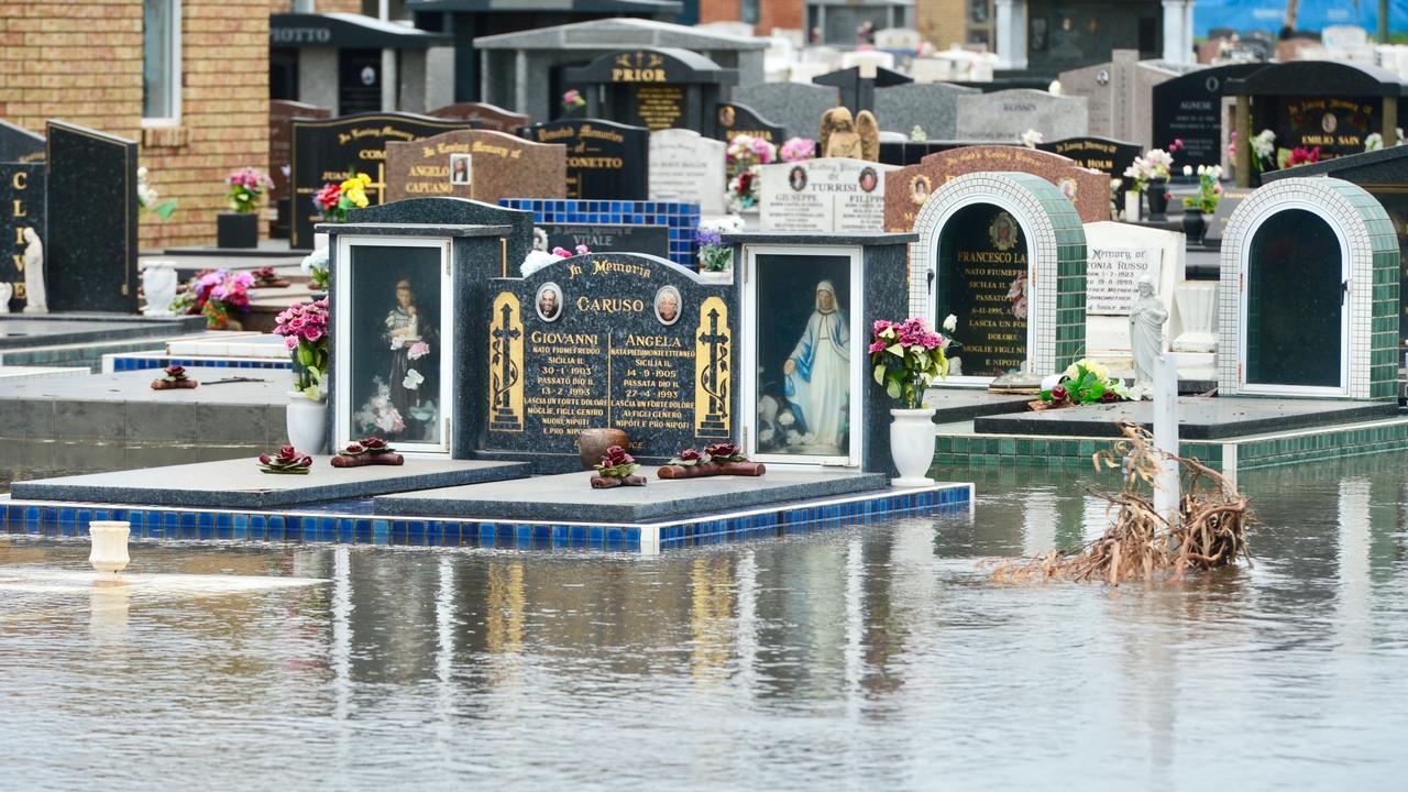 Ayr Cemetery under water. Photo: Scott Radford-Chisholm