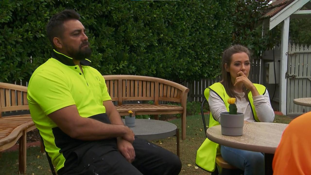 Ronnie and Georgia are summoned to a meeting with Luke and Josh to clear the air after they accused the twins of cheating. Picture: Channel 9