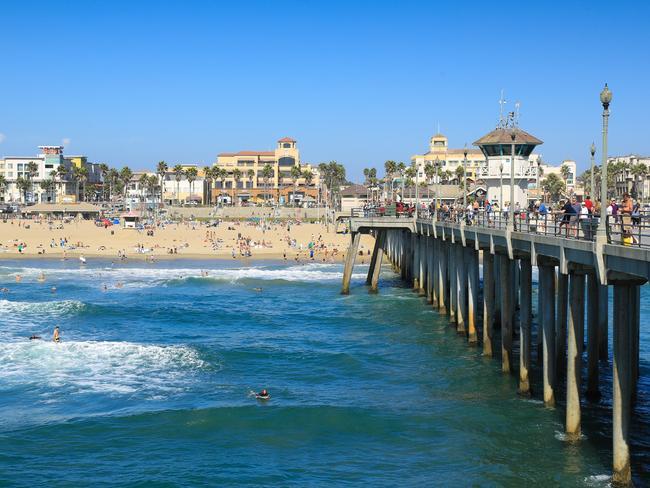 California's famous Santa Monica Pier.