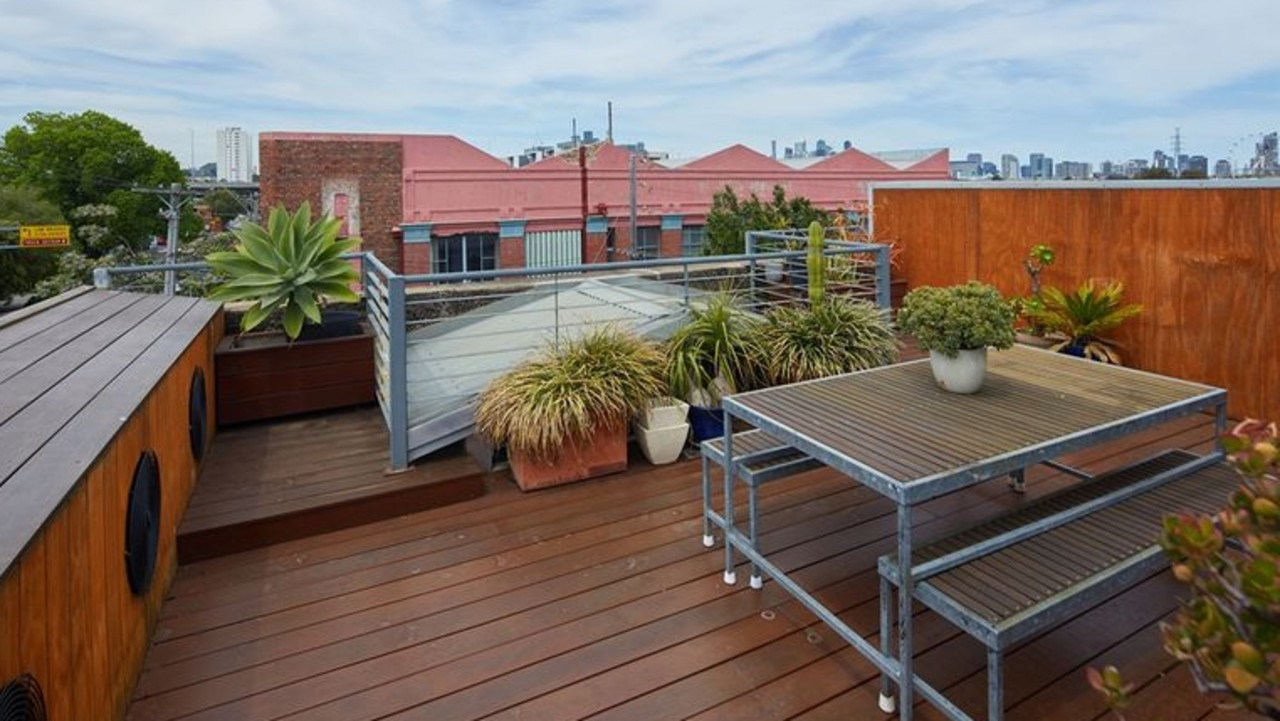 The rooftop terrace offered city views.