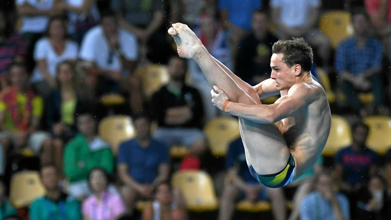 Australia's Domonic Bedggood just missed out on a place in the men's 10m platform final at the world swimming championships in Hungary. Picture: DEAN LEWINS