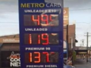 Supplied  Supercheap petrol Picture: Nine News