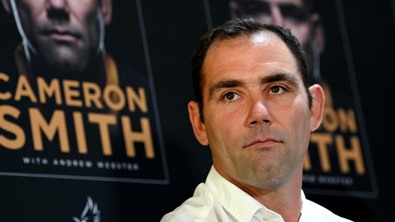Cameron Smith at Suncorp Stadium this week to promote his autobiography. Picture: Getty Images