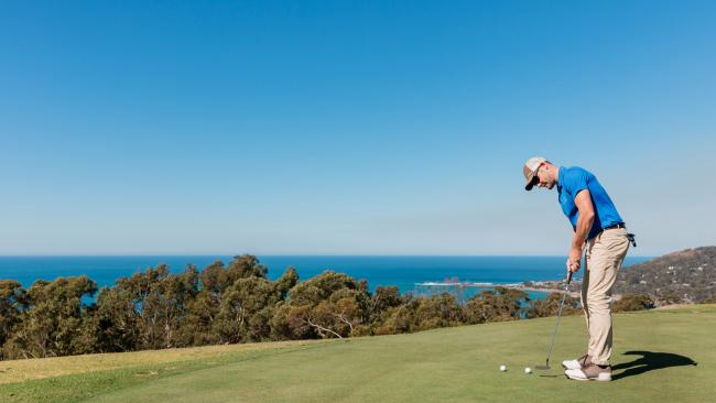 6/9Swing a club The Lorne Country Club sounds swanky but is in fact rather chill and very welcoming. It's a nine hole course, the views are sublime and you may well share the fairways with some resident kangaroos.