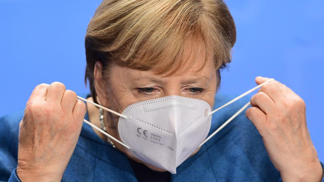 German Chancellor Angela Merkel has put her country into another lockdown as cases spiral out of control. Picture: Filip Singer – Pool/Getty Images