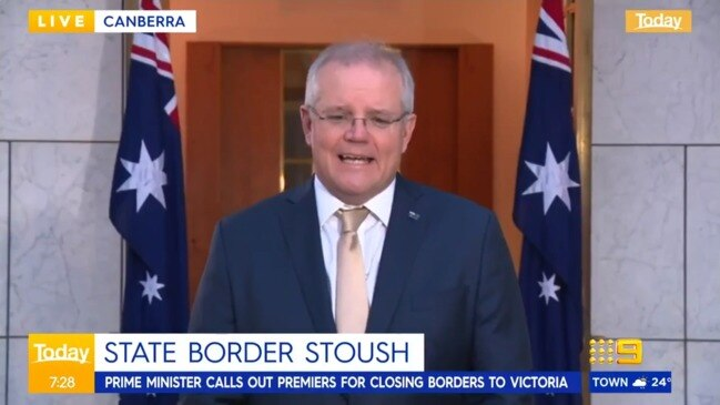 "PM hits back at Palaszczuk's border swipe: ""Why are you picking on Queensland?"" (The Today Show)"