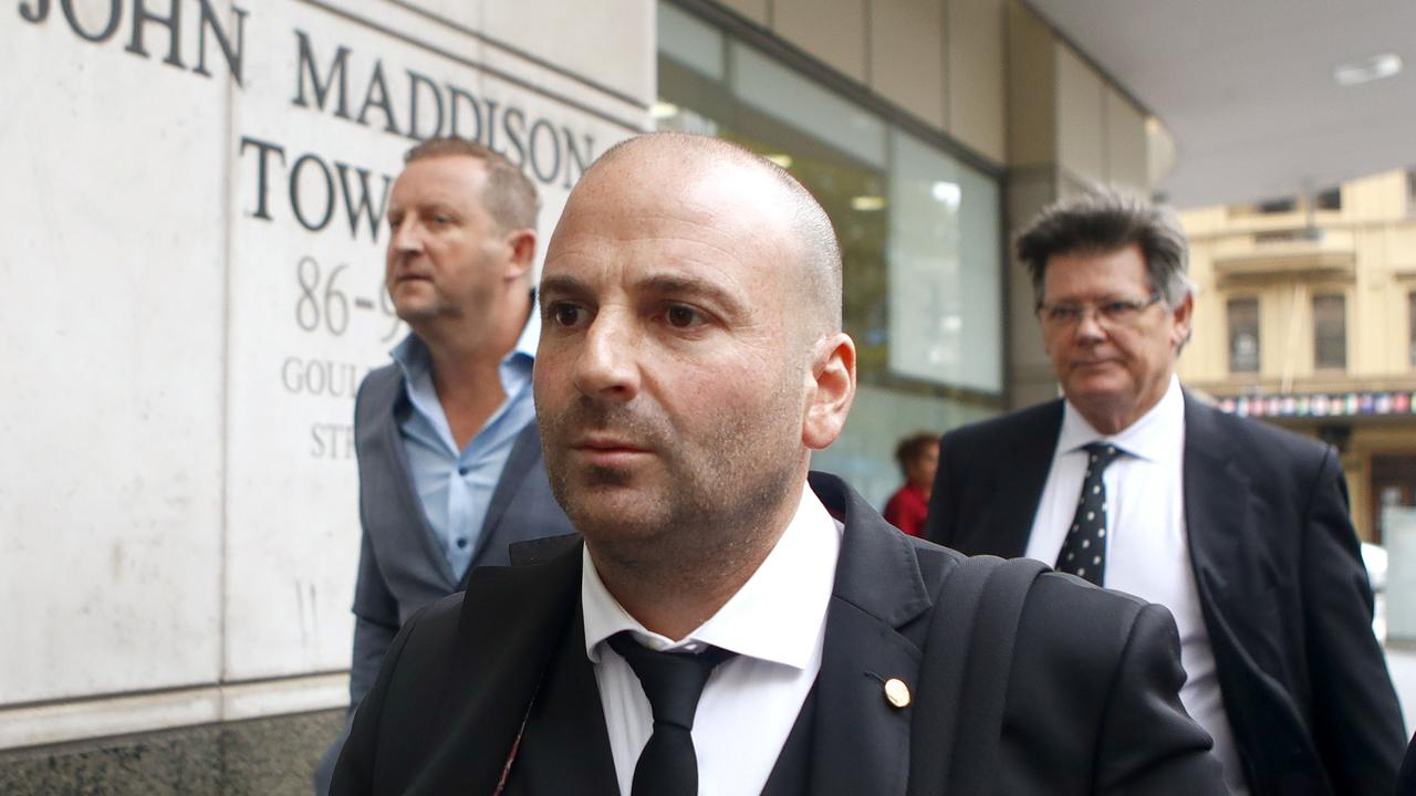 George Calombaris arrives at the Downing Centre court in 2018. Picture: Daniel Munoz/AAP
