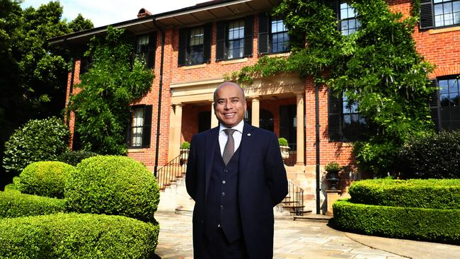 Steel baron Sanjeev Gupta. The British billionaire recently settled in Australia after buying the steel works in Whyalla. Pictured at his Bellevue Hill home in Sydney's east. Picture: John Feder/The Australian.